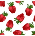Seamless pattern with fresh strawberries vector image vector image