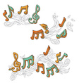 set of retro music page decorations vector image
