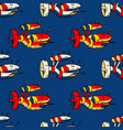 spacecraft seamless pattern vector image vector image