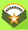 star airborne logo flat style