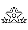 star video blog icon outline style vector image vector image