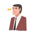 stressed businessman working overwhelmed man vector image vector image