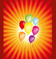 summer balloons party vector image