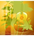 The guitar music vector image vector image