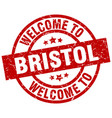 welcome to bristol red stamp vector image vector image