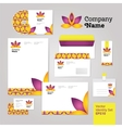 Yoga wellness flower corporate identity style set vector image