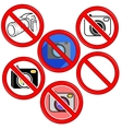 No Photo Camera Sign No photo Icon Button vector image