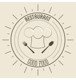 Chefs hat icon Menu and food design vector image