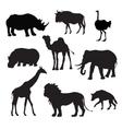 Wild African Animals Black vector image