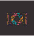 abstract photography logo in line style vector image vector image