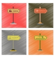 assembly flat shading style icons sign of market vector image vector image