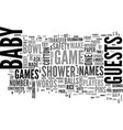 baby shower games text word cloud concept vector image vector image