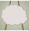 background with cloud and ropes vector image vector image