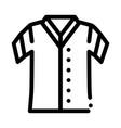 baseball t-shirt icon outline vector image vector image