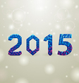 blue 2015 christmas background vector image