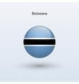 Botswana round flag vector image vector image