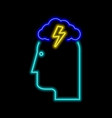 brainstorming neon sign bright glowing symbol on vector image vector image