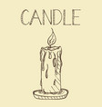 candlelight line art a hand drawn vector image