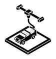 car d printing icon simple style vector image vector image