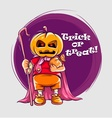 Character in halloween suit vector image vector image