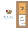 coconut creative logo and business card vertical vector image vector image