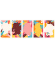 collection abstract background designs summer vector image vector image