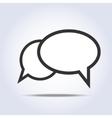 communication bubbles icon vector image