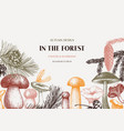 conifers and mushrooms design hand drawn autumn vector image vector image