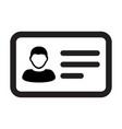 contact icon male user person profile avatar vector image vector image