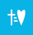 cross equal to heart icon laconic vector image