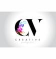 cv vibrant creative leter logo design vector image vector image