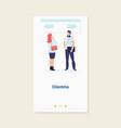 dilemma businessmanbusiness decision concept vector image