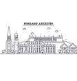 england leicester architecture line skyline vector image vector image