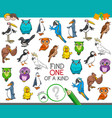 find one a kind with birds animal characters vector image vector image