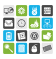 Flat Computer mobile phone and Internet icons vector image vector image