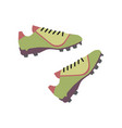 footbal boots soccer green boots vector image