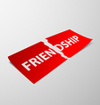 friendship Stock vector image