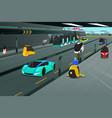 futuristic city transportation vector image