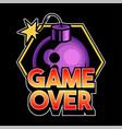 game over lettering design trendy phrase