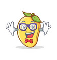 geek mango character cartoon mascot vector image vector image