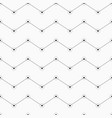 geometric background of zigzag lines with dots in vector image vector image