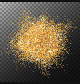 glowing glitter particles on transparent backdrop vector image