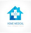 home medical logo concept vector image