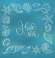 I love sea poster vector image