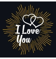 I Love you in strarburst shape vector image vector image