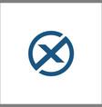 initials x circle logo abstract vector image