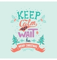 keep calm and wait for Merry Christmas vector image vector image