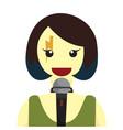 lady rocker singer graphic vector image