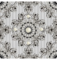luxury jewelry 3d baroque seamless pattern black vector image vector image