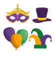 mardi gras carnival elements vector image